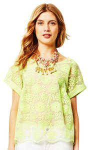 Anthropologie Anthro Floral Spring Top Yellow