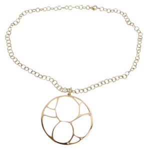 Zales ZALES 14K Contemporary Circle Diamond Accent Necklace in Yellow Gold - NEW