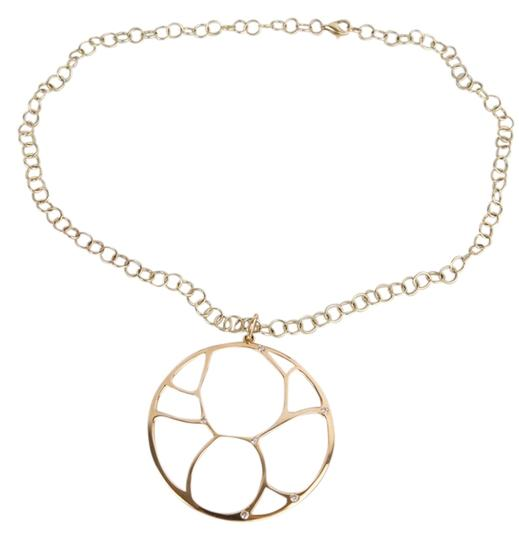 Preload https://item5.tradesy.com/images/zales-yellow-gold-14k-contemporary-circle-diamond-accent-necklace-1459754-0-1.jpg?width=440&height=440
