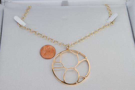 Zales Contemporary Circle Diamond Accent Necklace in Yellow Gold 14K Image 1