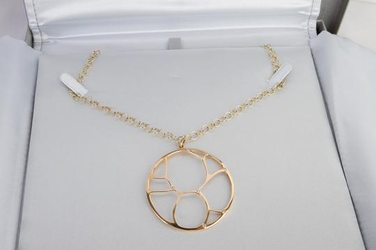 Zales Contemporary Circle Diamond Accent Necklace in Yellow Gold 14K Image 2