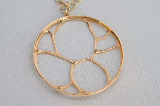 Zales Contemporary Circle Diamond Accent Necklace in Yellow Gold 14K Image 4