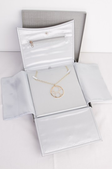 Zales Contemporary Circle Diamond Accent Necklace in Yellow Gold 14K Image 7