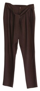 Les Petites Collection Polka Dot Silk High Rise Trouser Pants navy