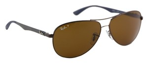 Ray-Ban Ray Ban Carbon Poloarized Sunglasses RB 8313