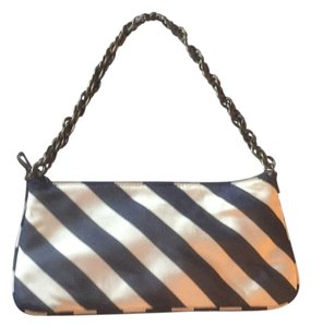 J.Crew Navy Stripe Clutch