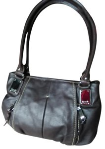 Tignanello Leather Chrome Hardware Hobo Bag
