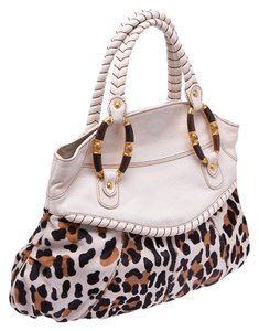 Valentino Leopard Print Tote in Animal Print, Ivory