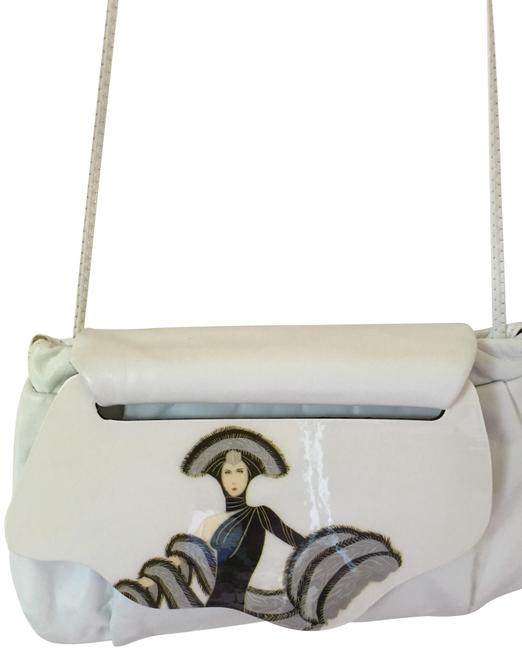 Item - Soft with Amazing Decorative Flap White Leather Shoulder Bag