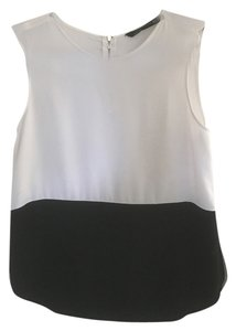 Zara Evening Two-tone Sleeveless Top Black and White
