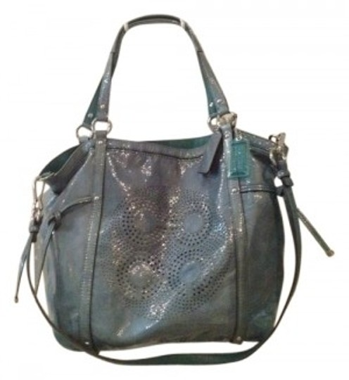 Coach Tote in Lagoon with Silver hardware