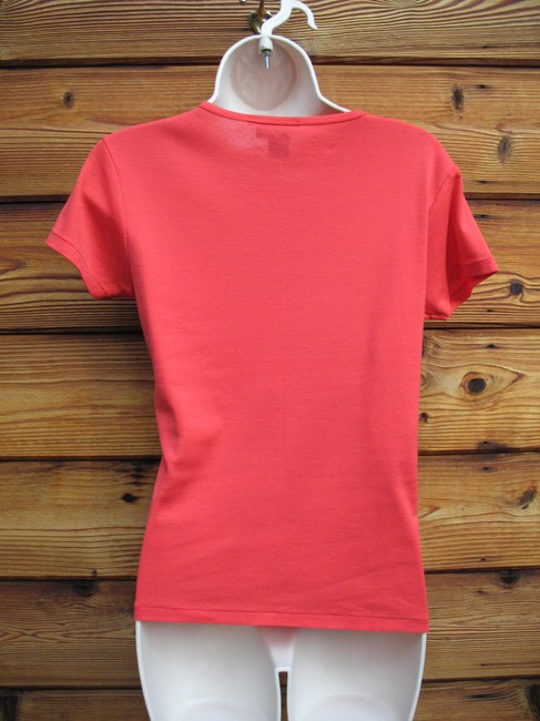 Ralph Lauren Black Label Cotton Slim Fit T Shirt Red Orange Image 3