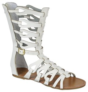 Bamboo White Sandals