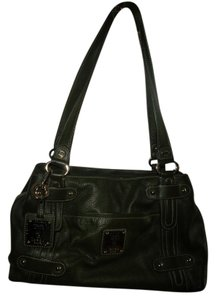 Tignanello Pebbled Leather Satchel in Dark Green