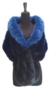 INC International Concepts Fur Faux Fur Ombre Shawl Cape