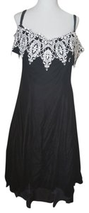 Other Vintage Retro 80s Velveteen Off Dress
