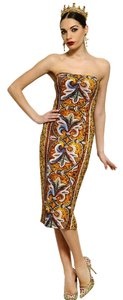 Dolce&Gabbana Runway Mosaic Gown Dress