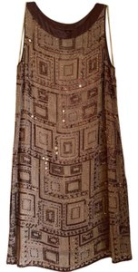 Marc Bouwer 100% Silk Beaded Dress