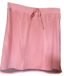 Burberry Stretchy Sexy Matching Top Mini Skirt pink