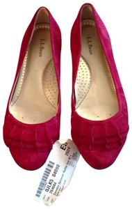 LL Bean red Flats