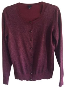 Talbots Sweater Sparkly Metallic Cardigan