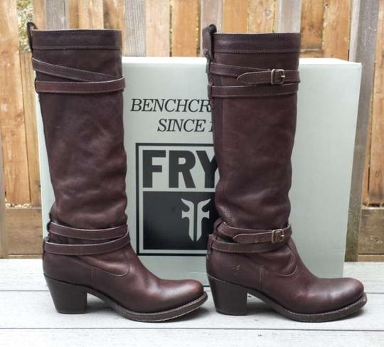 Preload https://item3.tradesy.com/images/frye-dark-brown-tumbled-full-grain-strappy-bootsbooties-size-us-65-146007-0-0.jpg?width=440&height=440