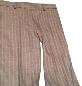DKNY Straight Pants Light Brown with Lighter Stripes