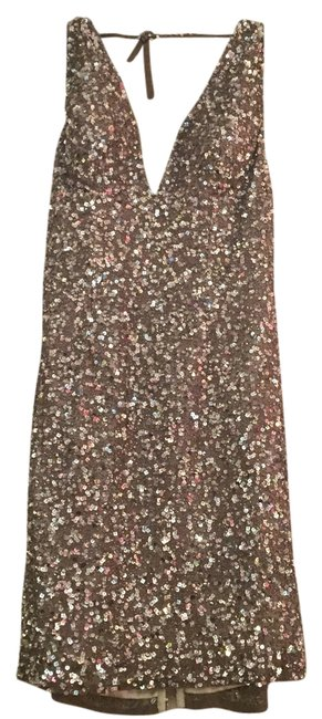 Item - Nude Cocktail Above Knee Night Out Dress Size 12 (L)