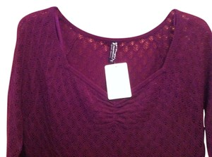 Free People short dress amethyst Knit on Tradesy