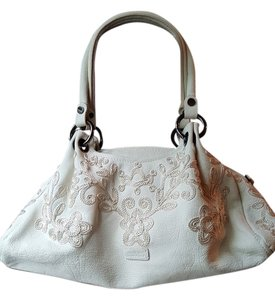 Moschino Leather Embroidered Hobo Bag