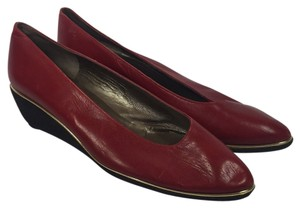 Bruno Magli Red Wedges