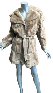 Vintage Leather Fur Fur Coat