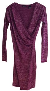 Moda International Sparkle Shiny Wrap V-neck Dress