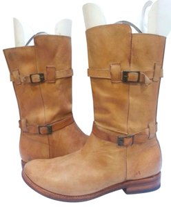Bed Stü Double-buckle Enduring Leather Rustic Boots