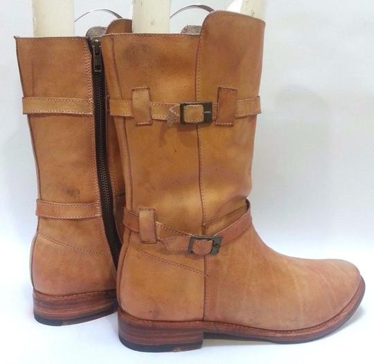 Bed|Stü Double-buckle Enduring Leather Rustic Boots Image 2