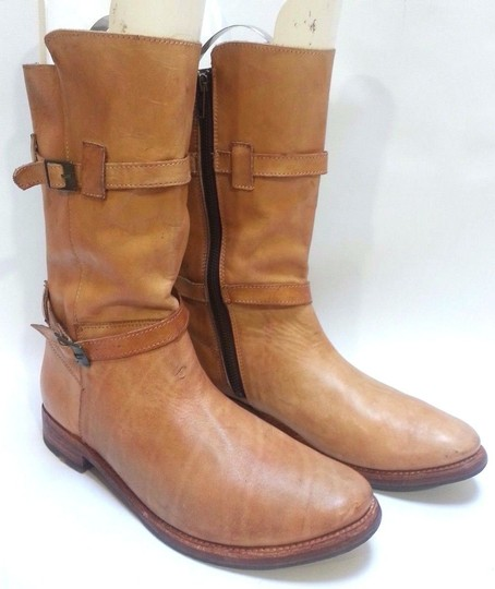 Bed|Stü Double-buckle Enduring Leather Rustic Boots Image 3