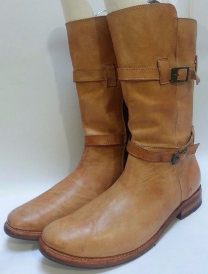 Bed|Stü Double-buckle Enduring Leather Rustic Boots Image 4