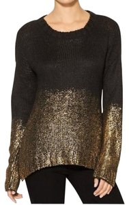 Piperlime Evening Sweater Top Black & Gold