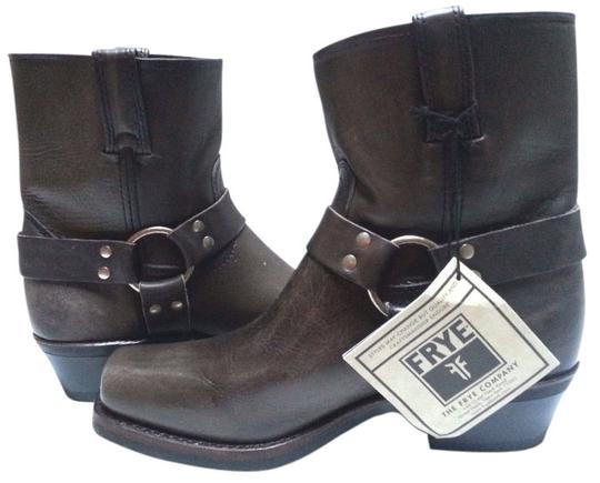 Frye Motorcycle O-ring Leather Smoke Boots Image 0
