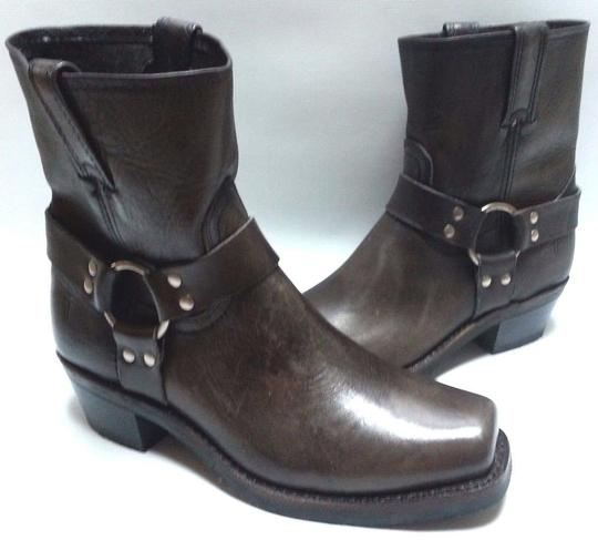 Frye Motorcycle O-ring Leather Smoke Boots Image 1