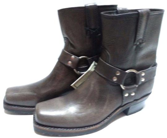 Frye Motorcycle O-ring Leather Smoke Boots Image 3