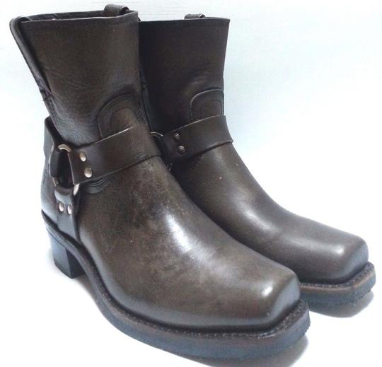 Frye Motorcycle O-ring Leather Smoke Boots Image 6