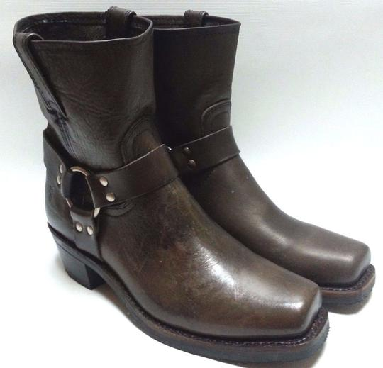 Frye Motorcycle O-ring Leather Smoke Boots Image 7