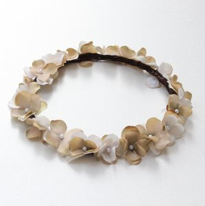 Custom Made Ivory Tan Flower Crown - Ivory crown - bridal floral crown