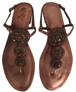 Charles David Leather Bronze gold Sandals