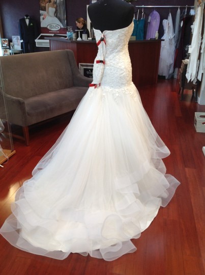 Alfred Angelo Ivory Lace and Tulle Cinderella -216 Disney Fairy Tale Collection Formal Wedding Dress Size 14 (L)