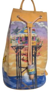caribbean soul Tote Coated Interior Canvas Beach Swim Suit Backpack