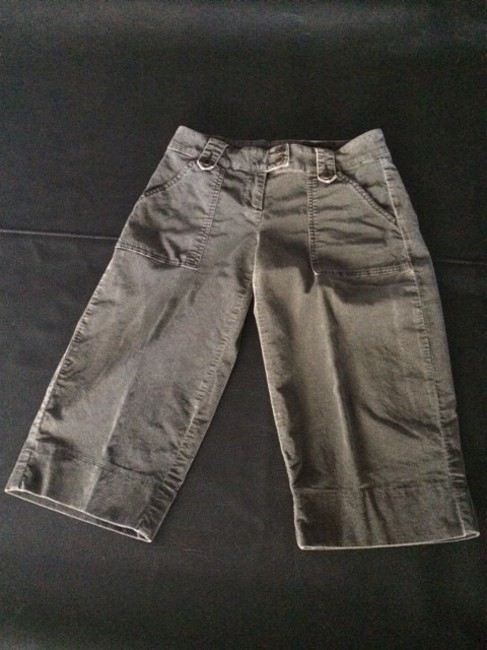 CAbi Embroidered Capris Charcoal