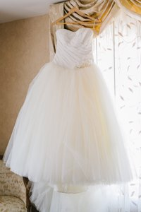 Vera Wang Vera Wang White Label Ball Gown With Asymmetrically Draped Bodice Style Vw351007 Wedding Dress