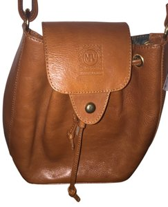 Mario Valentino Vintage Leather Cognac Cross Body Bag